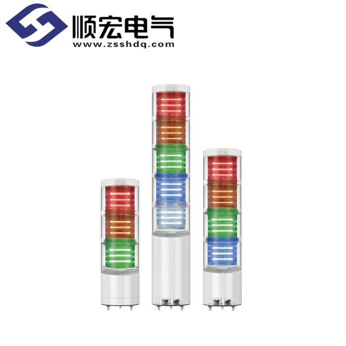QTC70ML/QTCA70ML Φ70mm 直附型 LED 模块型长亮/闪亮多层信号灯 Max.90dB