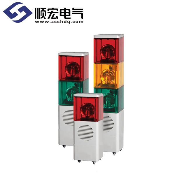 SJD 内装信号音灯泡反射镜旋转方形多层指示灯 Max.90dB
