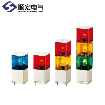 KJSB 系列带蜂鸣器的多层小型方形旋转报警灯
