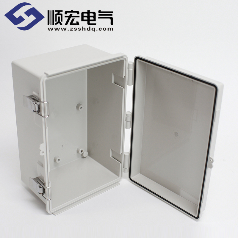 UN-OOO-3040-15 塑料盒 金属门扣塑灶铰链 300X400X150