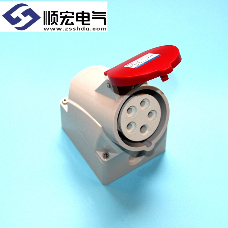 IP44 16A 5芯 防水防爆明装插座