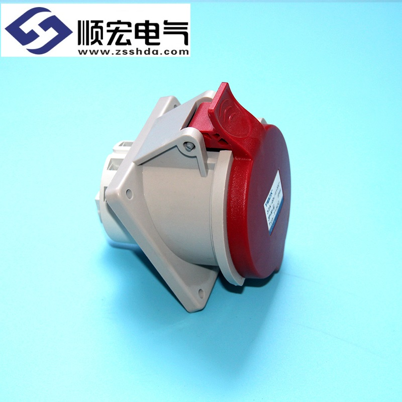 IP44 32A 5芯防水防尘斜插式工业插头插座连接器