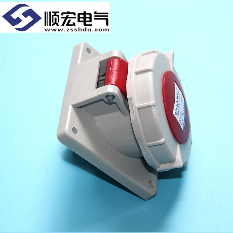 IP67 16A 4芯防水防尘斜插式工业插头插座连接器