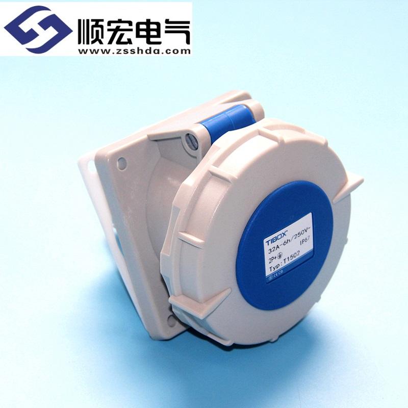 IP67 32A 3芯防水防尘斜插式工业插头插座连接器