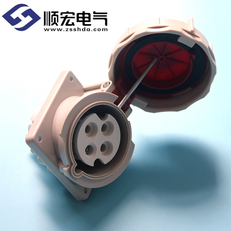 IP67 32A 4芯防水防尘斜插式工业插头插座连接器