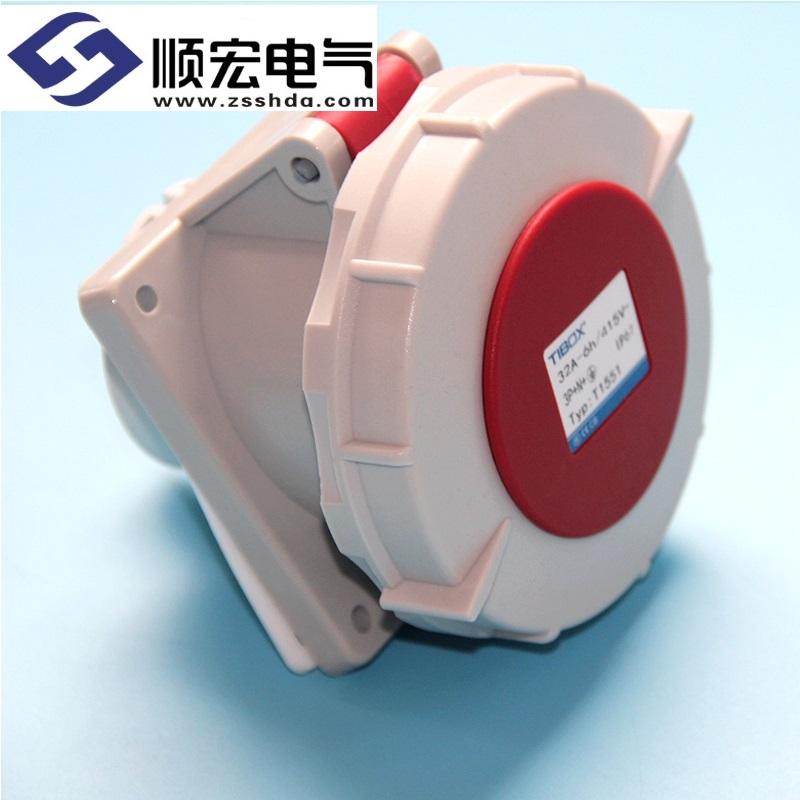 IP67 32A 5芯防水防尘斜插式工业插头插座连接器