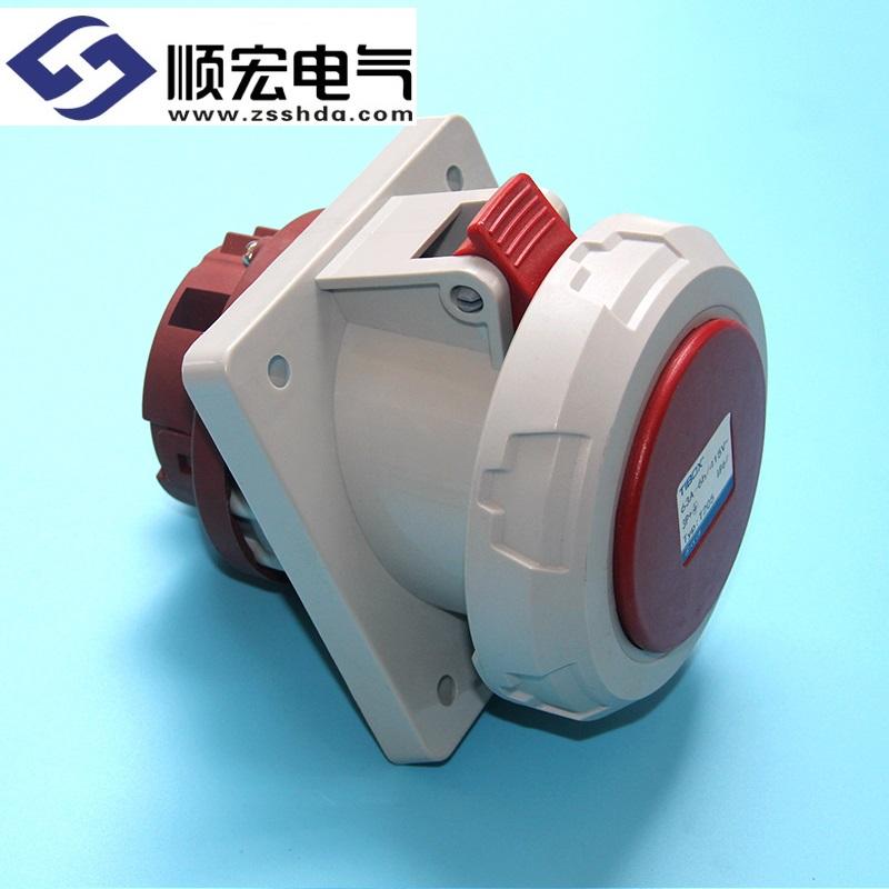 IP67 63A 4芯防水防尘斜插式工业插头插座连接器