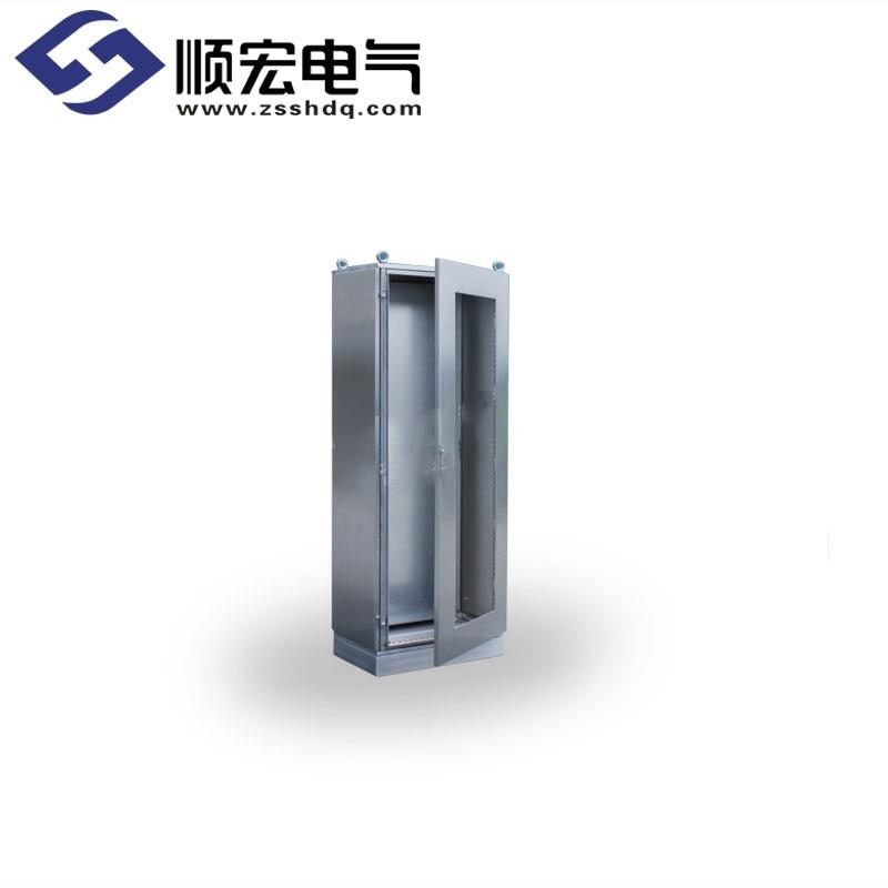 不锈钢带玻璃门机柜